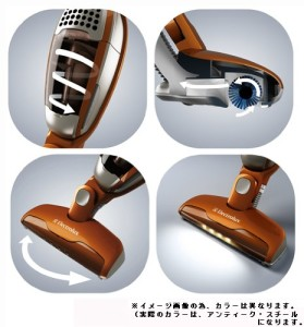 Electrolux Ergo Rapido Cyclone type 2 way cordless cleaner Antique Steel ZB2901 head