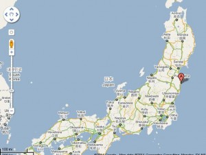 Fukishima-plant-Google-maps