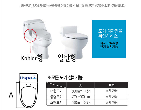 130407 LotteiMall HamHong USpa Stainless Two Nozzle Bidet UB-5820h