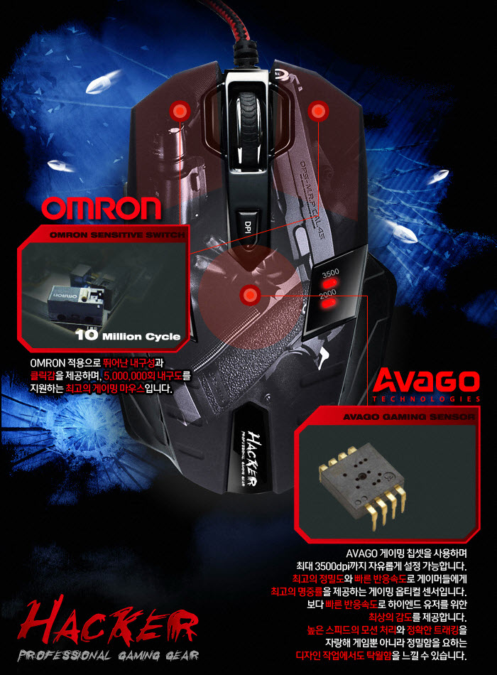 130614 ABKO Hacker GX CORE8 SNIPER Gaming Mouse2