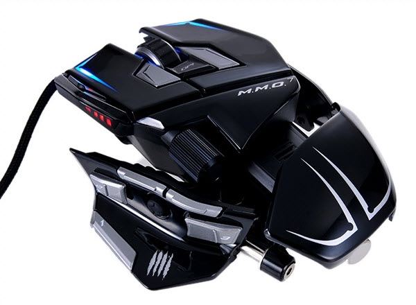130614 Mad Catz Cyborg MMO7 Mouse macro 13 button dual action lock back light weight black2