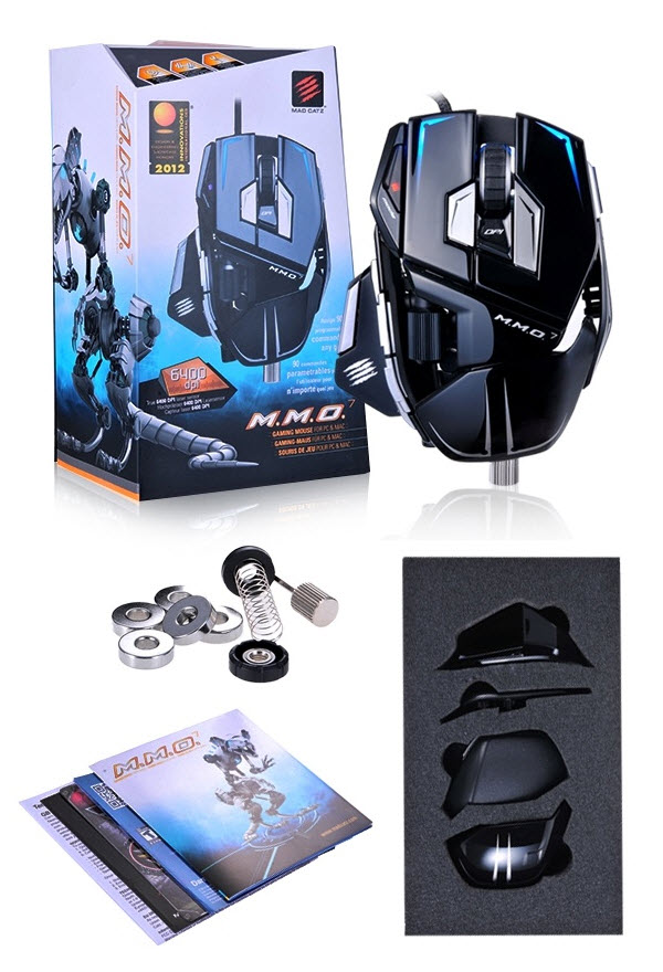 130614 Mad Catz Cyborg MMO7 Mouse macro 13 button dual action lock back light weight black4