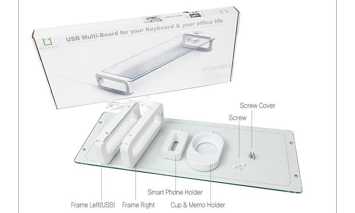 121004 GMarket [썬엔원] 유보드 베이직 U-보드 모니터 노트북 키보드받침대 강화유리 컵홀더 아이폰거치대 u-board11