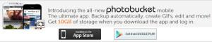 PhotoBucket 10GB Storage